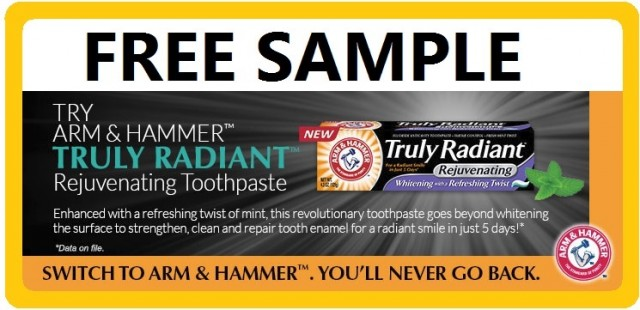 Arm-Hammer-Truly-Radiant-Toothpaste-Sample